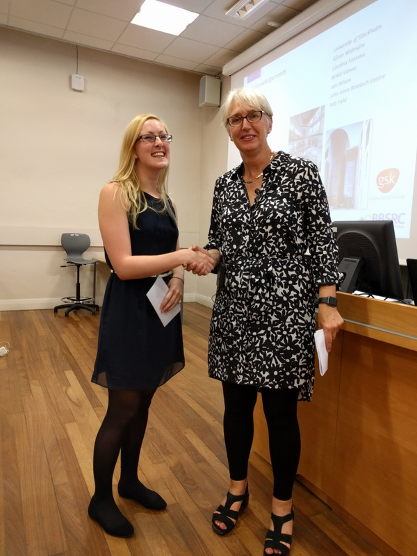 Katie awarded prize for best talk.